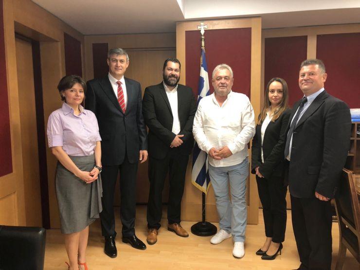 Συναντήσεις Λ. Κρέτσου με πρέσβεις για τα οπτικοακουστικά έργα στην Ελλάδα