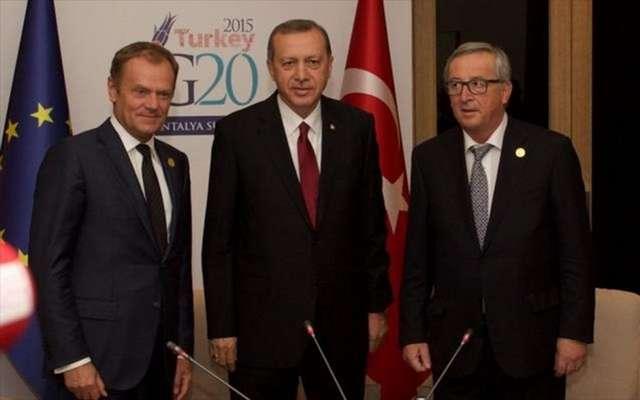Βλέπει Τουσκ και Γιούνκερ στις Βρυξέλλες ο Ερντογάν