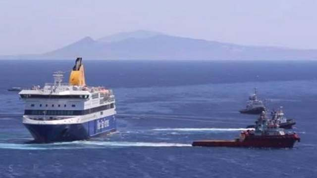 Διαρροή πετρελαιοειδών από τις δεξαμενές του Blue Star Patmos