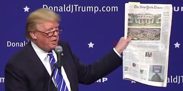 «Χρυσός» για τους NY Times η κόντρα με τον Τραμπ