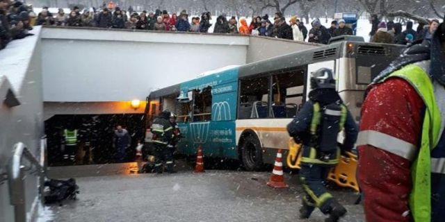 Τον θάνατο έσπειρε λεωφορείο στη Μόσχα!