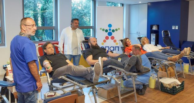 Εθελοντική αιμοδοσία ΟΠΑΠ: Εργαζόμενοι και πράκτορες για τα παιδιατρικά νοσοκομεία
