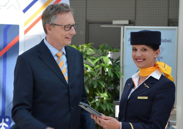 Με iPad τα πληρώματα καμπίνας της Lufthansa