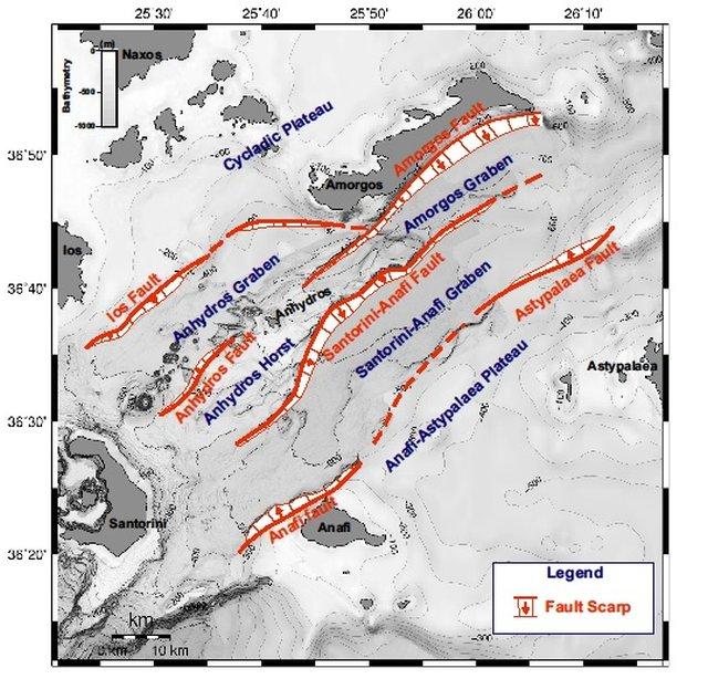 Πιθανοί σεισμοί 6,5 - 7,3 Ρίχτερ από ρήγματα στις Κυκλάδες!