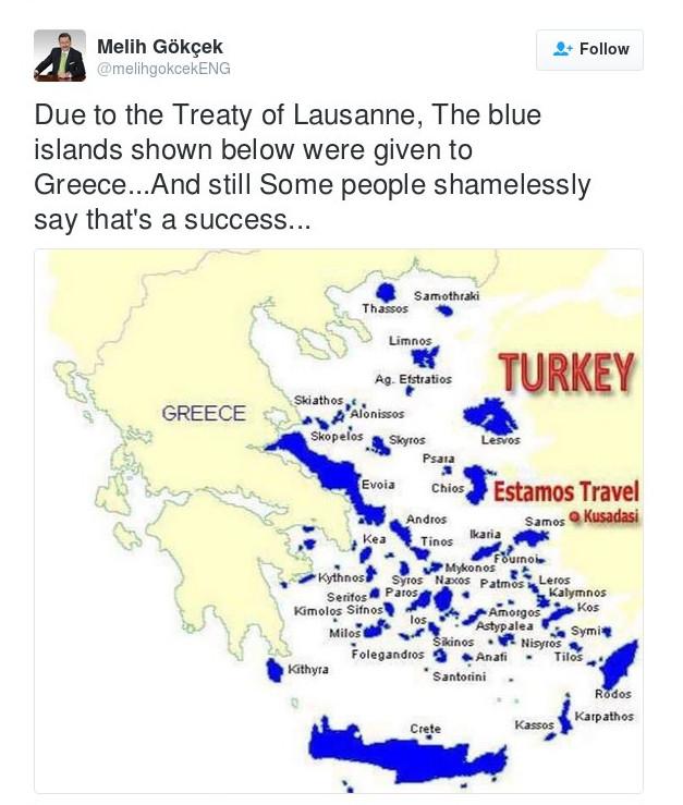 Προκαλεί ο δήμαρχος της Αγκυρας: Η Ελλάδα μας πήρε τα νησιά