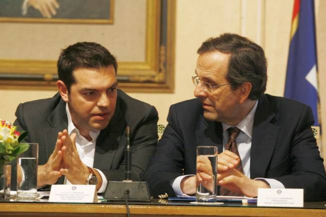 Πώς προετοιμάζεται η συμφωνία Σαμαρά-Τσίπρα για να μετατεθούν τον Ιούνιο οι εκλογές...