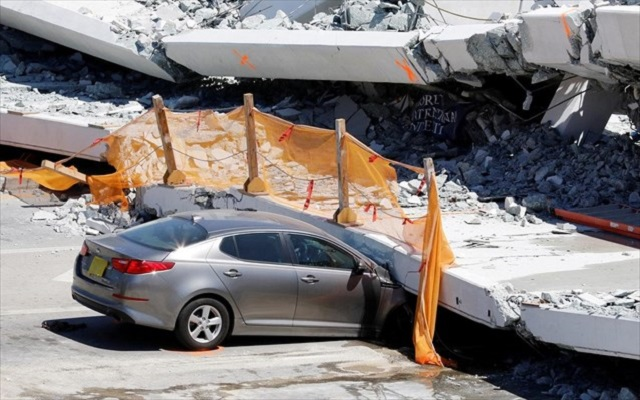 Φλόριντα: Η ρωγμή στη φονική πεζογέφυρα δεν ανησύχησε τους ειδικούς