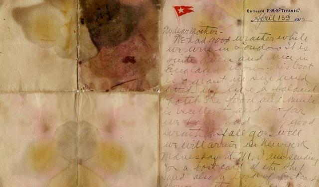 Τιμή ρεκόρ για την επιστολή επιβάτη του Τιτανικού