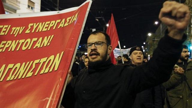 Διαδήλωση στο κέντρο της Αθήνας ενάντια στην επίσκεψη Ερντογάν
