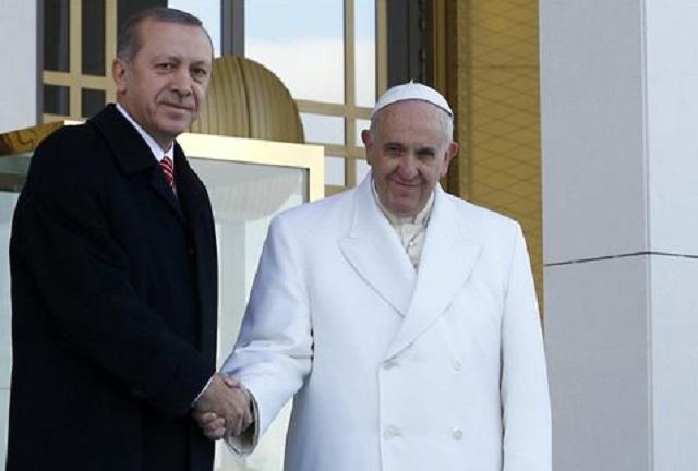 Επικοινωνία Ερντογάν-Πάπα Φραγκίσκου για Ιερουσαλήμ