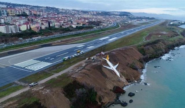 Τουρκία: Αεροπλάνο βγήκε από τον διάδρομο και γλίστρησε σε γκρεμό