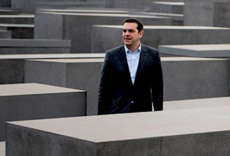 Στο Μνημείο Ολοκαυτώματος ο Αλέξης Τσίπρας